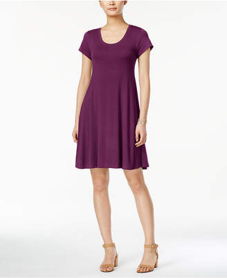 Style&Co. Style & Co Short-Sleeve A-Line Dress, Created for Macy's