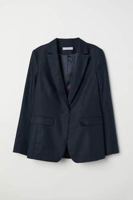 H&M Linen-blend Jacket - White - Women