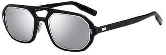 Christian Dior Men's Octagonal Metal-Trim Sunglasses