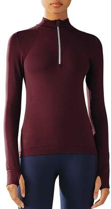 Tory Sport Quarter-Zip Seamless Top