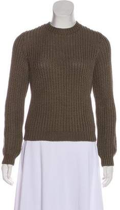 RED Valentino Rib Knit Open Back Sweater