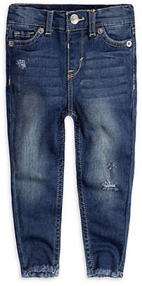 Levi's Baby Girl's Stretch Distressed Jeans