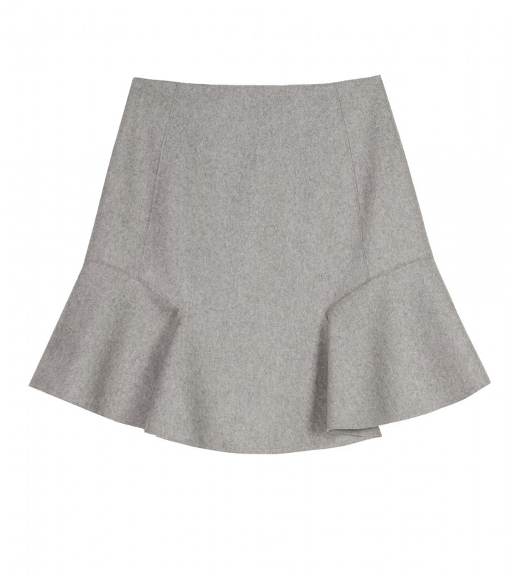 Carven WOOL SKIRT WITH RUFFLE