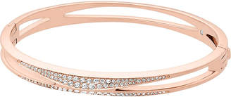 Michael Kors Cubic zirconia and stainless steel rose gold-toned bangle