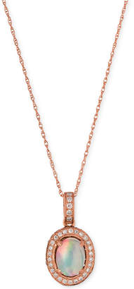 LeVian Le Vian Opal (2/3 ct. t.w.) and Diamond (1/3 ct. t.w.) Pendant Necklace in 14k Rose Gold, Created for Macy's