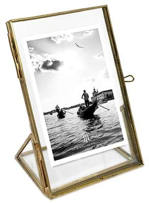 Angle Base Locket Picture Frame - Brass