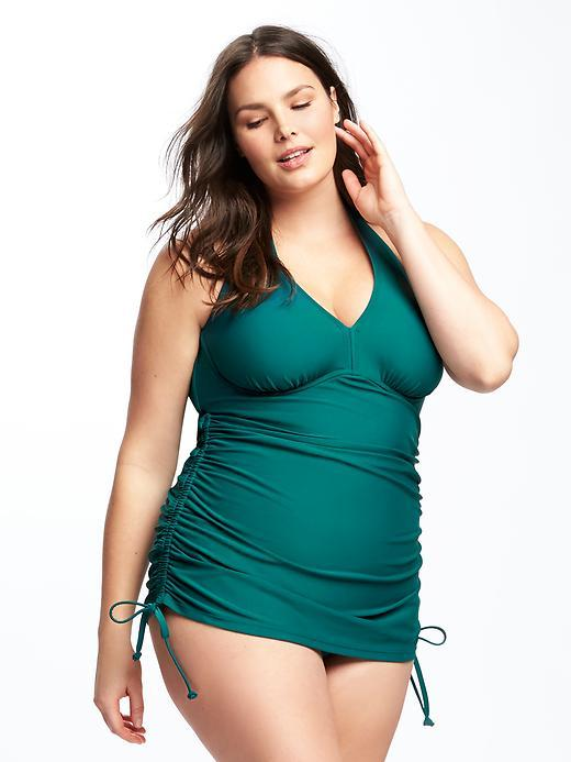 Old Navy Ruched Underwire Plus-Size Swim Dress
