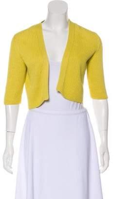 Akris Punto Open-Front Short Sleeve Cardigan