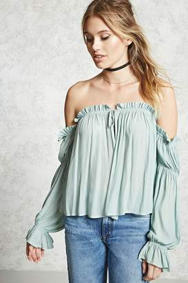 FOREVER 21+ Ruffled Off-The-Shoulder Top $22.90 thestylecure.com