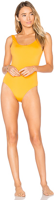 onia Kelly One Piece in Orange $150 thestylecure.com