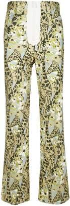 Miu Miu Giraffe Print Trousers