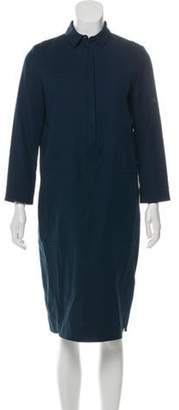 Loro Piana Midi Shirt Dress Navy Midi Shirt Dress