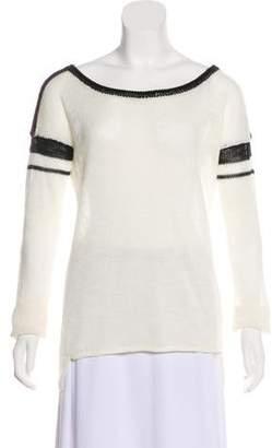 360 Sweater Long Sleeve Bateau Neck Sweater