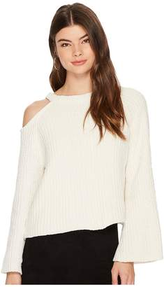 1 STATE 1.STATE Bell Sleeve Sweater with Shoulder Cut Out Women's Sweater