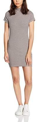 boohoo Petite Women's Sia Turtle Neck Rib Stripe Dress