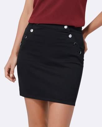 Forever New Hilda Button Detail Denim Skirt