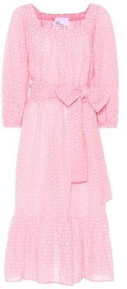 Lisa Marie Fernandez Laure cotton eyelet lace midi dress