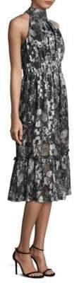 MICHAEL Michael Kors Metallic Tiered Midi Dress