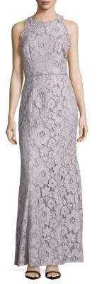 JS Collections Lace Overlay Sleeveless Dress