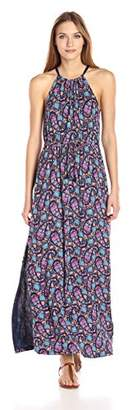 Lucky Brand Women's Party Paisley Maxi Dress
