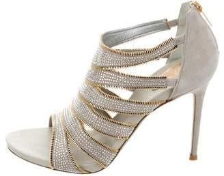 Rene Caovilla Embellished Multistrap Sandals