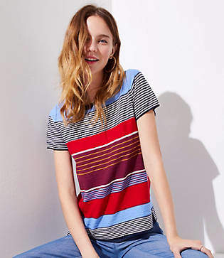 LOFT Mixed Stripe Tee