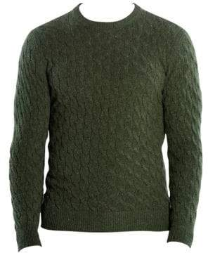 Eleventy Cable-Knit Cashmere Sweater