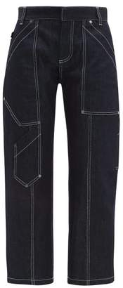 Chloé Contrast Stitch Straight Leg Jeans - Womens - Dark Denim