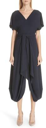 Jacquemus Draped Tie Waist Backless Dress
