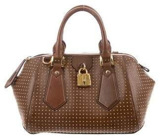 Pre Owned At Therealreal Burberry Studded Thornley Satchel