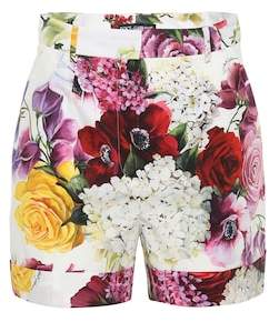 Dolce & Gabbana Floral-printed cotton shorts