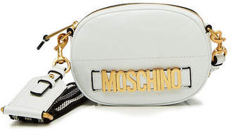Moschino Logo Leather Shoulder Bag
