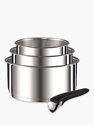 Tefal Ingenio Stainless Steel 4 Piece Saucepan Set