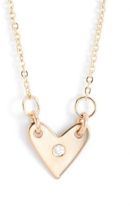 Women's Nashelle Diamond Heart Necklace $118 thestylecure.com