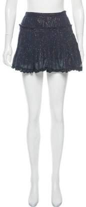 LoveShackFancy Metallic Mini Skirt