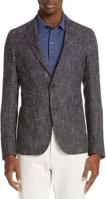 Ermenegildo Zegna Trim Fit Check Wool Blend Sport Coat