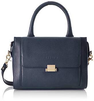 Essere Women's Genuine Leather Handbag with a detachable strap and multiple pockets -