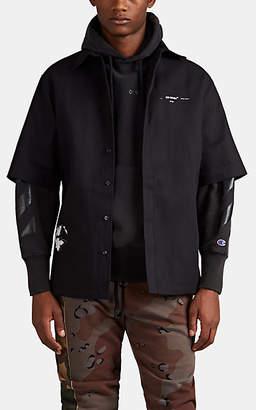 Off-White Men's Dondi Cotton-Blend Uniform Shirt - Black