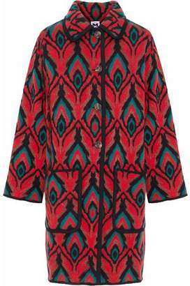 M Missoni Metallic Wool-Blend Jacquard Coat