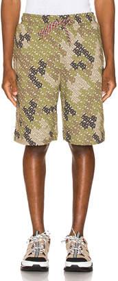 Burberry Camile Shorts in Khaki Green   FWRD