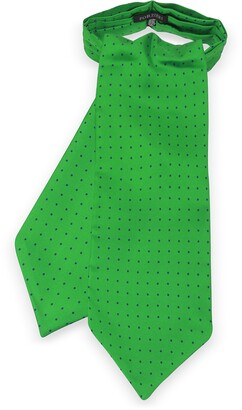 Forzieri Polkadots Print Silk Tie Ascot