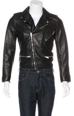 Saint Laurent Lambskin Moto Jacket