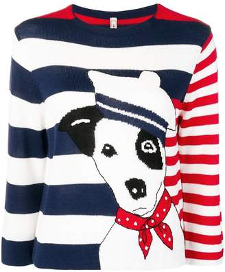Antonio Marras dog striped jumper
