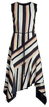 Lafayette 148 New York Women's Marnie Belted Asymmetric Dress