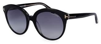 Tom Ford Monica Black Round-frame Sunglasses