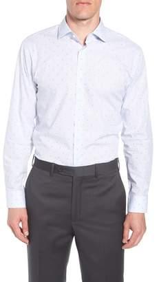 John W. Nordstrom R) Trim Fit Check Dress Shirt