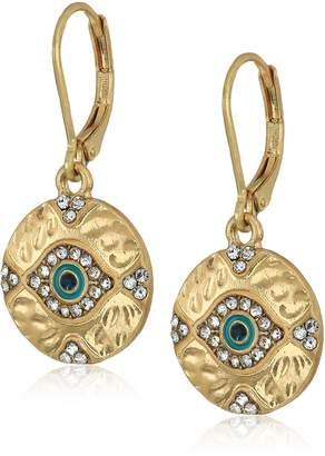 lonna & lilly Gold-Tine Evil Eye Drop Earrings