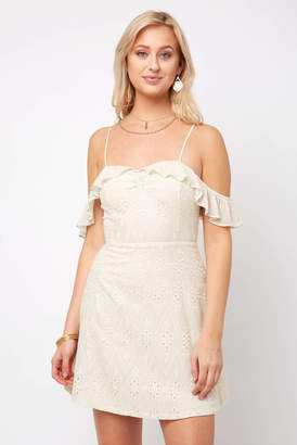 Astr Allover Tonal Embroidered Kristin Dress