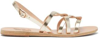 Ancient Greek Sandals Schinousa Entwining Leather Slingback Sandals - Womens - Gold