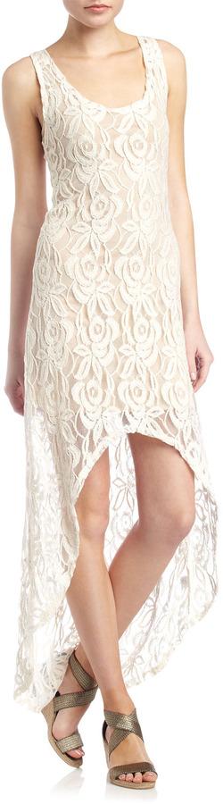 Madigan Lace Hi-Lo Dress, Ivory